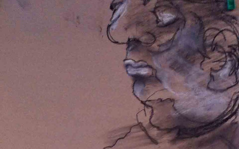 Intuitive drawing of an old man